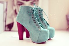 pink blue shoes
