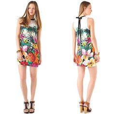 Juicy Couture tropical print dress