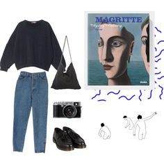 honeybee by esmeegroothuizen on Polyvore featuring Mode, MSGM, Dr. Martens, StyleNanda, art, magritte and aesthetic