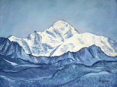 """Saatchi Art is pleased to offer the painting, """"Mont Blanc mountain,"""" by Nino Ponditerra, available for purchase at $2,080 USD. Original Painting: Oil on Canvas. Size is 23.6 H x 31.5 W x 0.8 in. Oil Painting On Canvas, Canvas Art, Canvas Size, Original Paintings, Original Art, Oil Paintings, Mont Blanc Mountain, Mountain Landscape, Mountain View"""