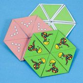 Hexa-hexaflexagon - three versions