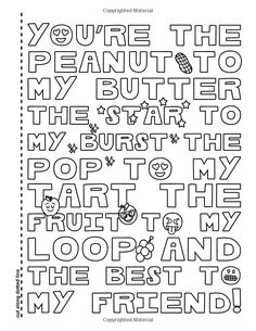 Emoji Best Friends Coloring Book: A Coloring Book for Two! Two Copies of each page, share and color with your BFF. Skull Coloring Pages, Love Coloring Pages, Printable Adult Coloring Pages, Mandala Coloring Pages, Coloring Books, Colouring Sheets, Swear Word Coloring Book, Coloring Pages Inspirational, Inspirational Quotes