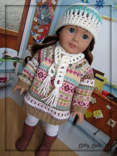 Hey, I found this really awesome Etsy listing at https://www.etsy.com/listing/173328362/sweet-sweater-dress-american-girl-doll