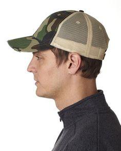 5b6c3591d85b0 Jungle Camo Structured Mid-Profile Trucker Hat