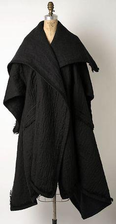 Coat Designer: Issey Miyake (Japanese, born 1938) Design House: Miyake Design Studio (Japanese) Date: 1983–87 Culture: Japanese Medium: linen, alpaca