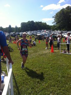 Mrs.America 2010 wearing her #TriFlare #TriSuit at the #Innsbrook #51/50 race. She won 4th place #Women's #Elite get one today at triflare.com!