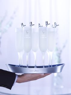 GREY GOOSE Le Fizz, the signature serve for any wedding reception.  Achieve the extraordinary. #FlyBeyond