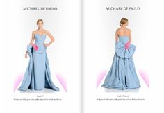 Pale blue drama.  #flower #lightblue #sweetheart #gown #train #bow #drama #fashiondesigner #fashiondesign #designer #michaeldepaulo