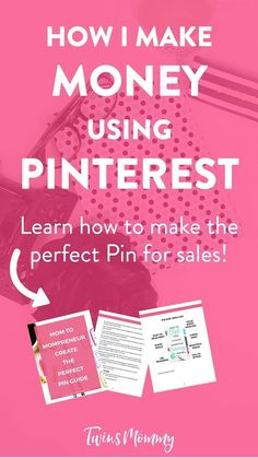 How Pinterest Helps Me Make Money  want to make money from home? How about make money blogging? I learned how I can generate an income using Pinterest. Learn how I make money using Pinterest without using promoted pins