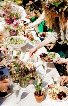 bridal shower inspiration | bohemian potluck