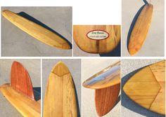 Balsa vintage surfboard