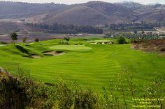 4th hole at Tierra Rejada Golf Club. 583 yard Dogleg right par 5