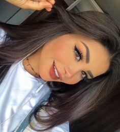 Tão felizinha 😆 Amanda hummer é Linda Glamorous Makeup, Gorgeous Makeup, Glam Makeup, Hair Makeup, Makeup Looks Winter, Cute Makeup Looks, Beauty Make-up, Beauty Hacks, Hair Beauty