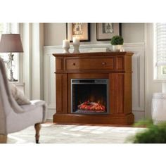 K Jones Electrics Ludlow Home Decorators Collection Ludlow 44 in. Media Console Electric ...