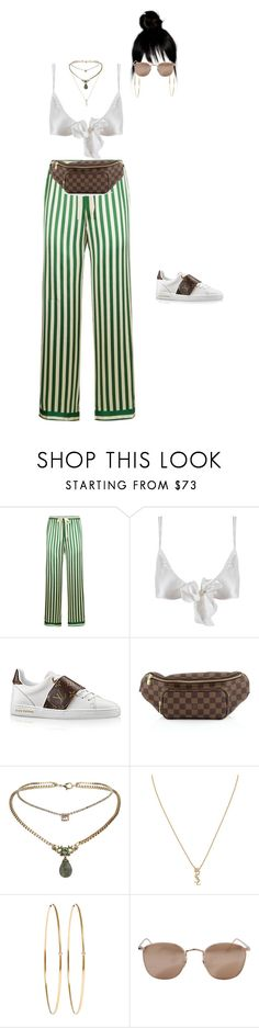 """""""Leaving Fred Segal with Lana del Rey"""" by nytown ❤ liked on Polyvore featuring Morgan Lane, Only Hearts, Louis Vuitton, Topshop, Yves Saint Laurent, Jennifer Meyer Jewelry and Linda Farrow"""