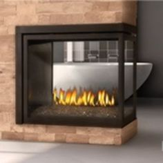 Napoleon Clean Face BHD4 Peninsula Direct Vent Fireplace
