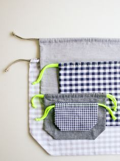 A Drawstring Bag from the Purl Bee - The Crafts Dept.    how to make a drawstring bag!