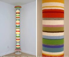Creative and Cool Knitting Art Creations (35) 15 - Knitted Lamp!