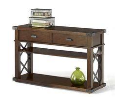 Landmark Rustic Vintage Ash Sofa/Console Table