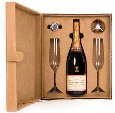 Laurent Perrier Champagne Giftbox and Flutes (image 1)