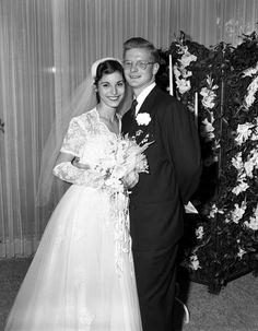 Florida Memory - Wedding portrait of Priscilla Ziff and John Morgan Stafford.  1952