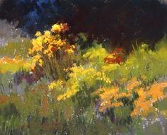 Floral Delight by Kim Lordier Pastel ~ 8 x 10 Pastel Landscape, Watercolor Landscape, Abstract Watercolor, Abstract Landscape, Landscape Paintings, Watercolour, Pastel Drawing, Pastel Art, Impressionist Landscape