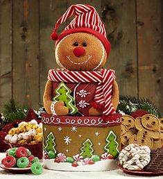 Gingerbread Man Holiday Sweets Tower
