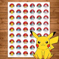 Pokemon Stickers Red & White Pokemon One por NineLivesNotEnough
