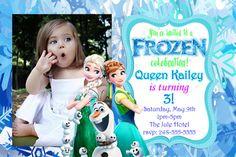 Frozen Photo Invitation  frozen birthday by KidzPartyPrintables