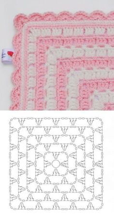 New Free Crochet afghan shell Thoughts Stoff 2 Filet Crochet, Crochet Shell Stitch, Crochet Diagram, Crochet Motif, Crochet Stitches, Crochet Doilies, Crochet Simple, Crochet Diy, Crochet Pillow