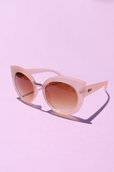 QUAY Dream of Me Sunglasses - Beige with Brown Lens