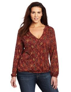 Lucky Brand Women's Plus-Size Paisley Scarletta Top Lucky Brand. $59.50. Machine Wash. Made in Korea, Republic of. V-neck with button placket. Cinched elastic waist. 100% Cotton Modal Slub Jersey