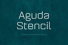 Aguda Stencil Font Family Fonts Designer: Pablo BalcellsDesign date: 2014Aguda Stencil font family is the stencil version of the by Graviton Font Foundry