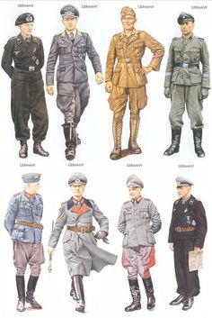 German uniforms during World War II