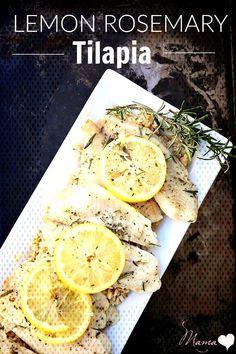 Lemon Rosemary Tilapia Recipe, tilapia recipes, baked tilapiaYou can find Best tilapia recipes and more on our website. Best Tilapia Recipe, Tilapia Recipes, Baked Tilapia, Camembert Cheese, Lemon, Canning, Website, Food, Essen
