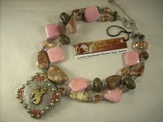 Western Cowgirl Chunky Necklace Set  Pink by Outwestjewelry, $57.95