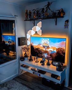 Nerd Room, Gamer Room, Deco Gamer, Gaming Room Setup, Pc Setup, Computer Gaming Room, Gaming Rooms, Game Room Kids, Game Room Basement