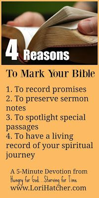 Do you think it's OK to mark your Bible? For a long time, I didn't think so . . . then something changed my mind.