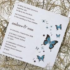 butterfly wedding template invitation -