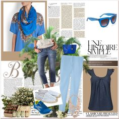 Blue, created by divineshape on Polyvore