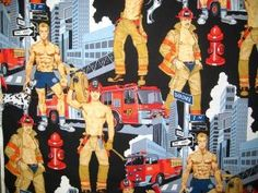 Alexander Henry Firemen Pin-Up fabric. Was going to make some fun aprons with this - never quite got around to it.