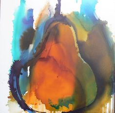 Emerging Pear Mark Houlding  80cm x 80cm. Spirit stain on board.    Price: £ 1,750.00 Mid Fowey