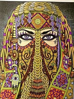 Done By Janice Maybee The Desert Enchantress Cool Art DrawingsColouringColoring Books