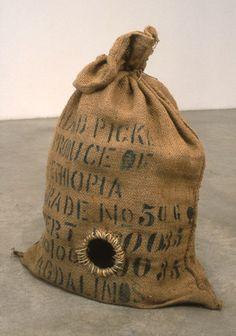 Rat Trap, Cloth bag, metal, x 27 x 17 inches. Human Condition, Rat, Stuff To Do, Objects, Sculpture, Metal, Sculpting, Rats, Statue