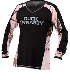New! Realtree Womens Pink Black Camo Duck Dynasty Performance Pullover MEDIUM #RealtreeDuckDynasty #Blouse #any