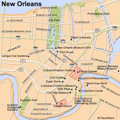awesome New Orleans Map Tourist Attractions Tours Maps Pinterest