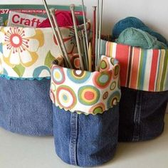 I just figured out what to do with all my old jeans and scraps of fabric!!!!