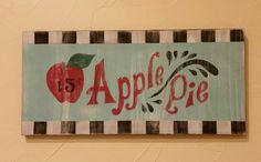 Apple Pie Wood Sign Kitchen Decor Breakfast by FunkyFarmhouseShop