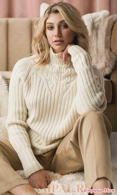 . Пуловер с высоким воротником - Вязание - Страна Мам Arm Knitting, Baby Knitting Patterns, Knit Fashion, Sweater Fashion, Knit Vest, Cardigan Pattern, Knitted Shawls, Historical Clothing, Crochet Clothes