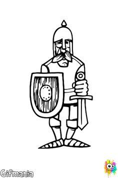 soldado medieval #caballero #soldado #dibujo